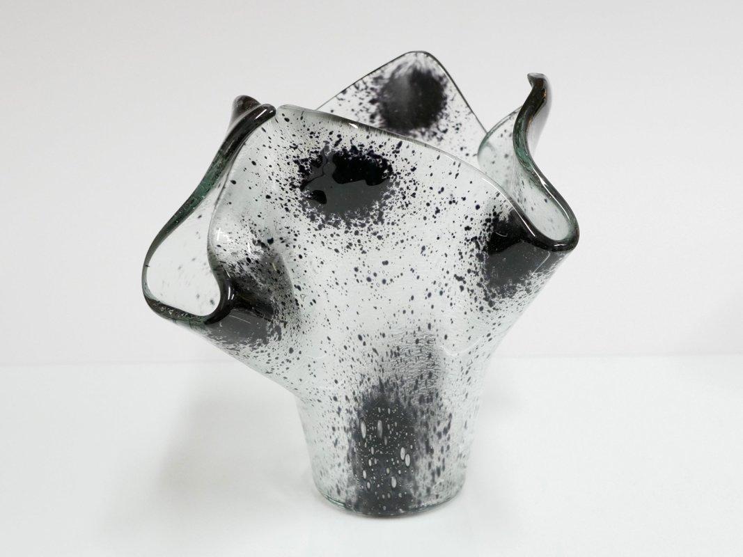 Vase transparent schwarz