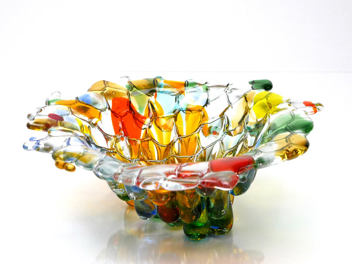Tropfglas- Schale bunt