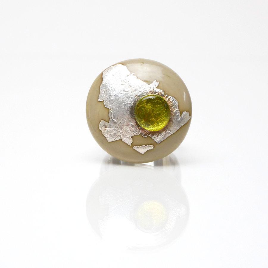 Ring Pistazie-Silber