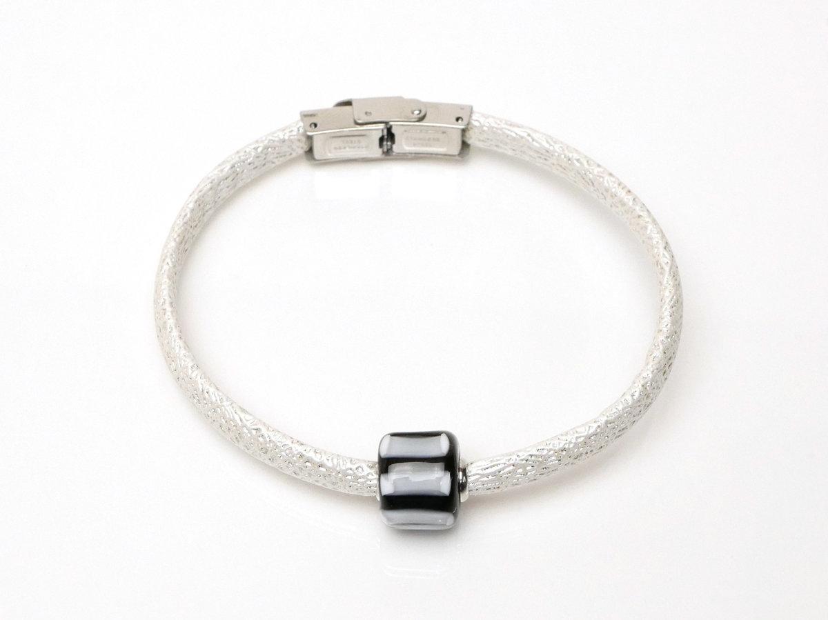 braccialetto nero-bianco