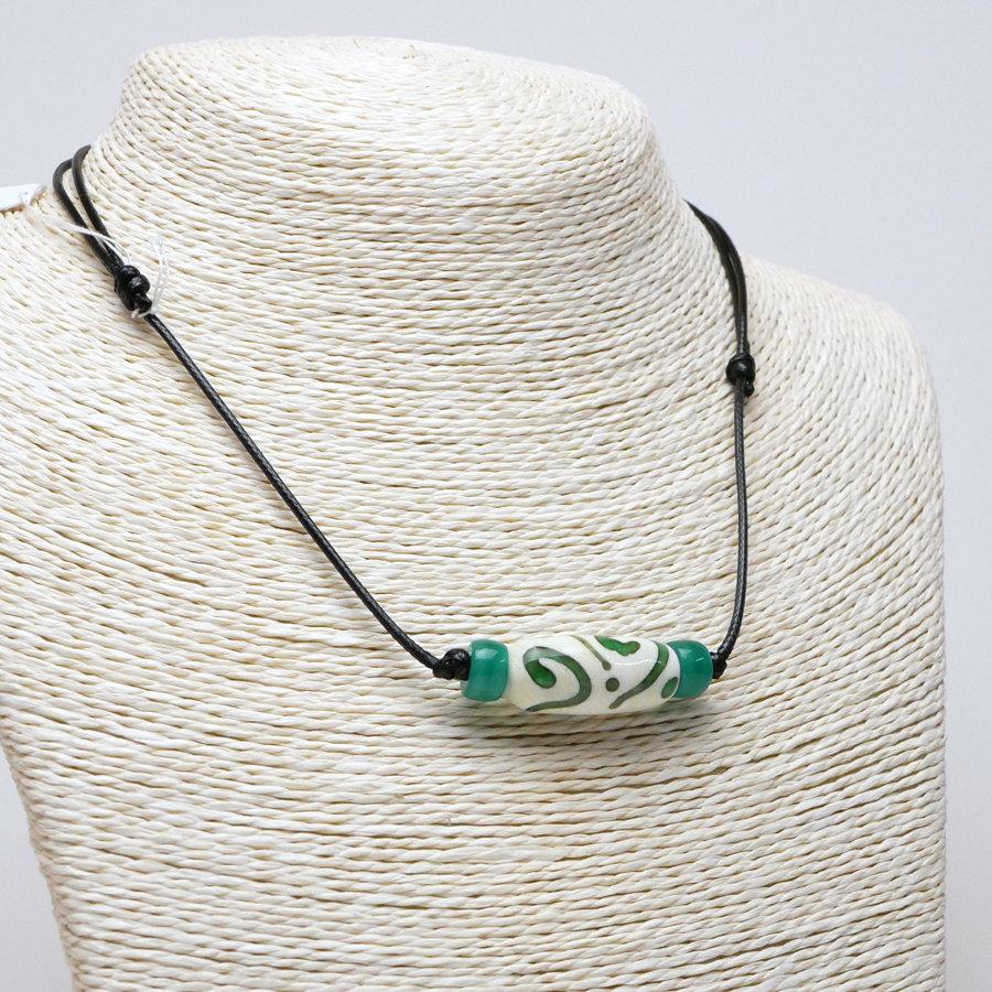 Collana sportiva crema-verde