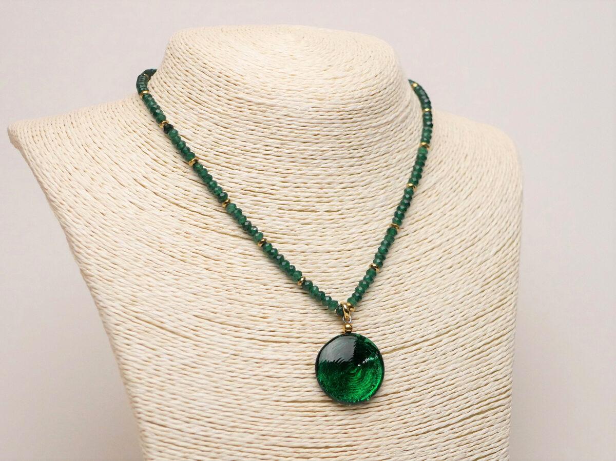 collana giada verde