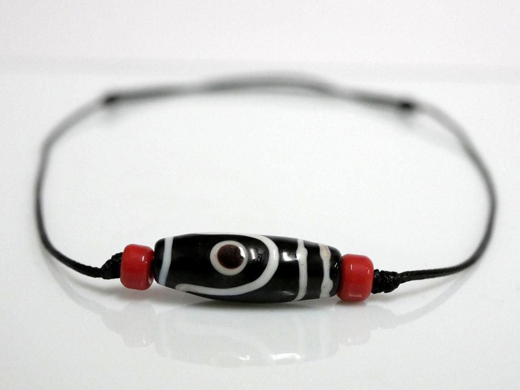 Collana sportiva nero - rosso
