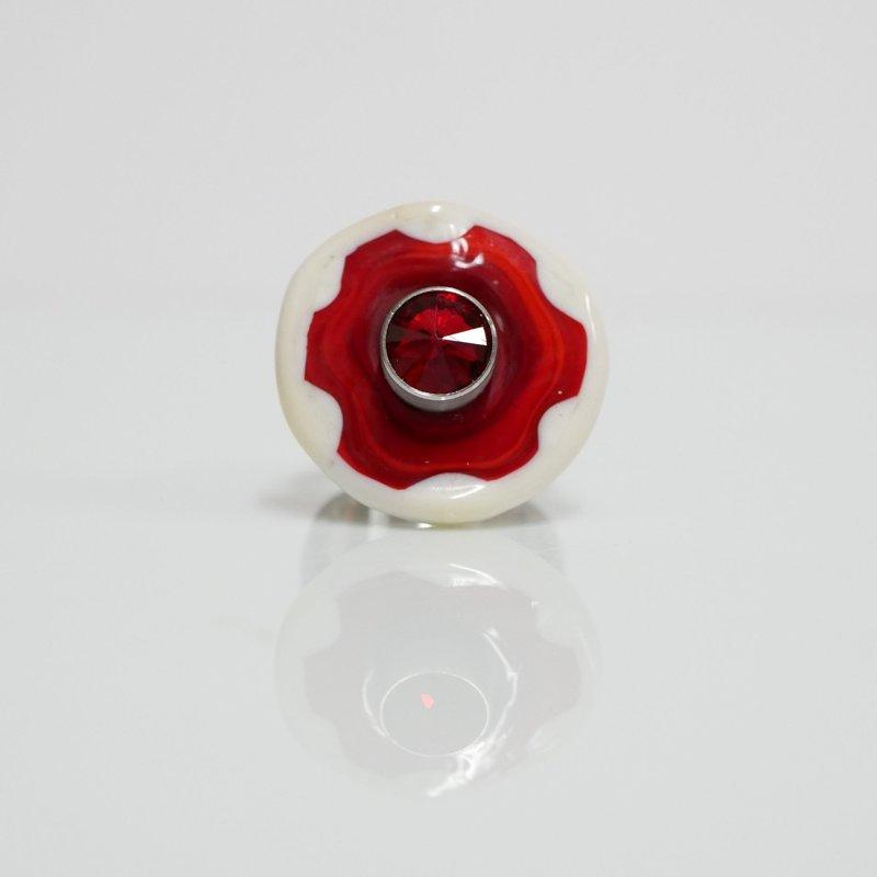 anello rosso - crema