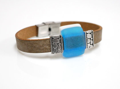 Armband braun-acqua