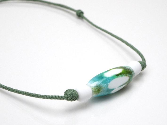 collana sportiva turchese- verde