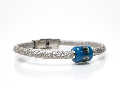 Armband silber-petrol