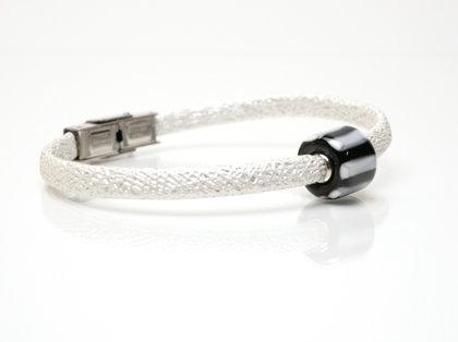 Armband schwarz-weiß