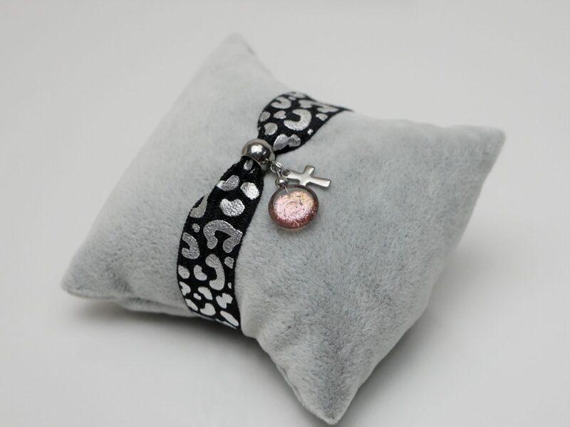 Elastisches Armband leo-lila