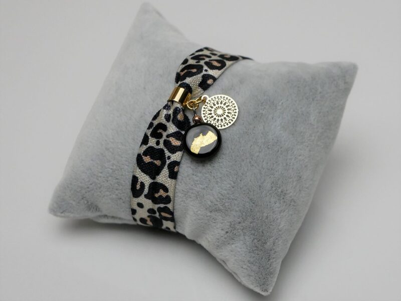 Elastisches Armband leo-schwarz