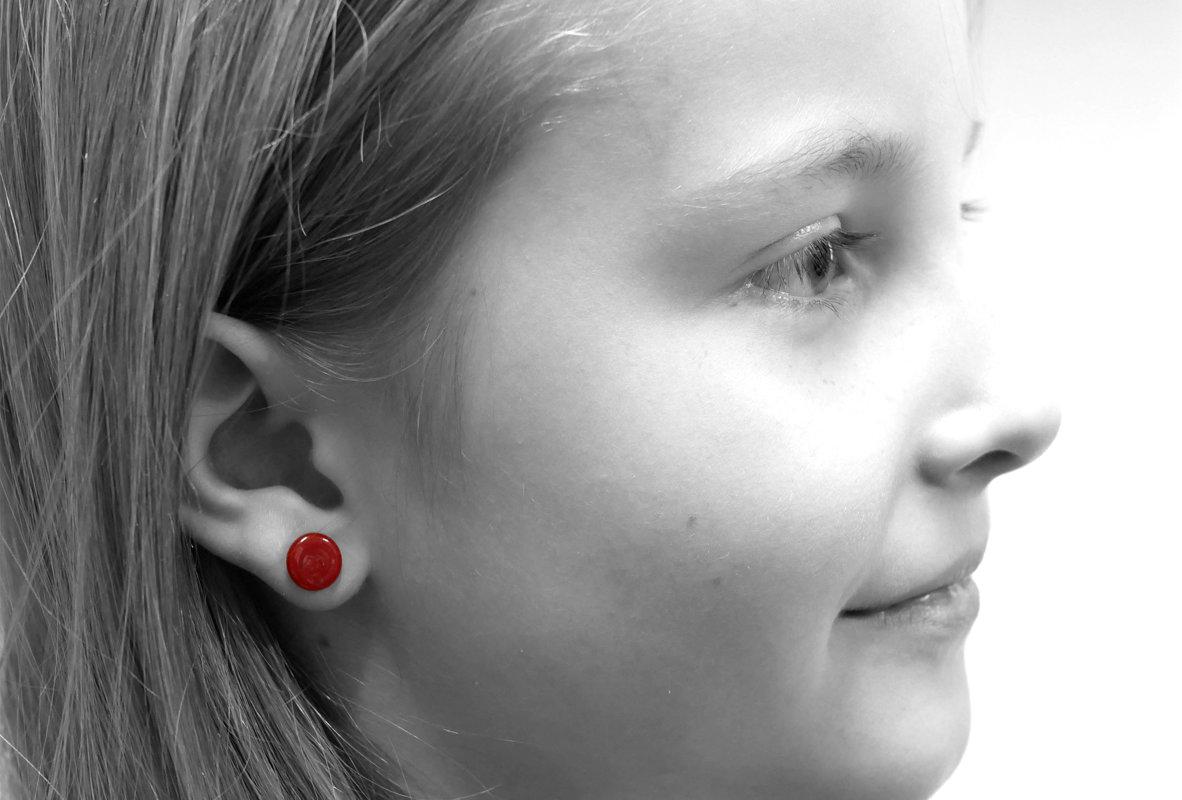 orecchini piatti