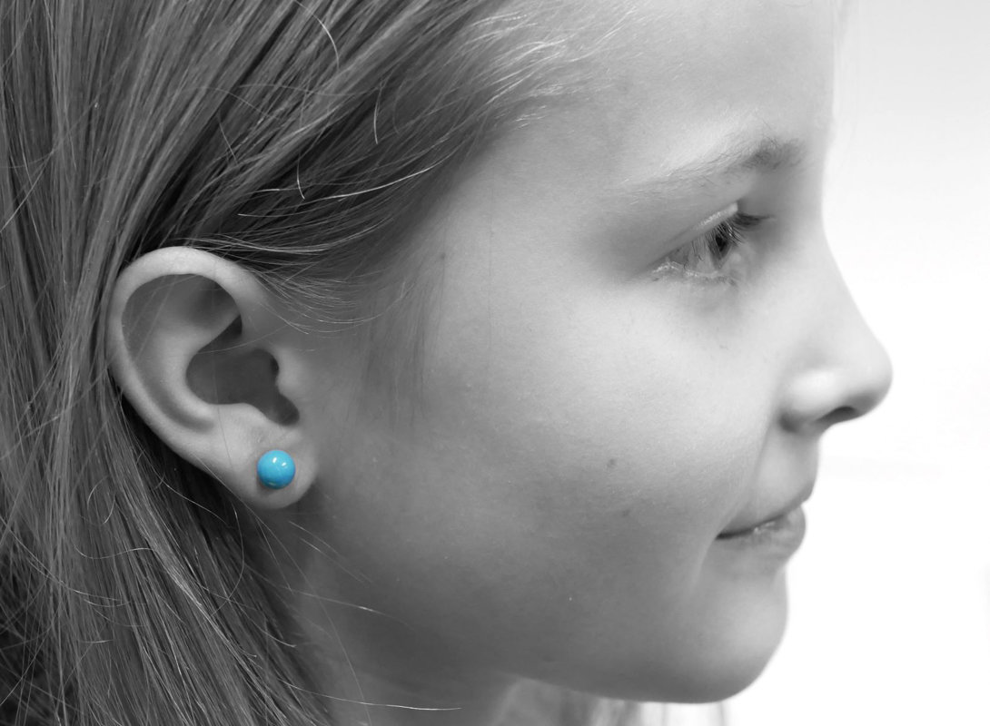 orecchini a pallina